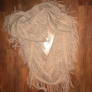 Brown Fringed Scarf